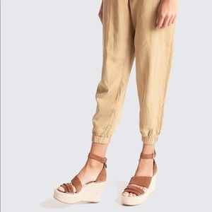 Dolce Vita Suede Leather Wedges 8.5 9.5 Saddle